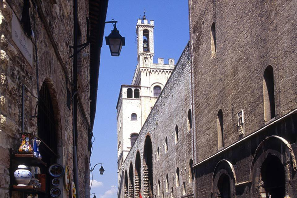 The Palazzo dei Consoli, built between 1332 and 1349, is one of the largest public buildings in Europe