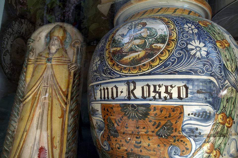 Umbria is known for its production of earthenware and ceramics