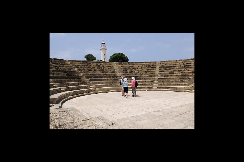 La gran zona arqueológica de la antigua ciudad de Nea Paphos está al lado de la ciudad actual. Visita obligada.