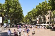 La Rambla, uno dei viali più famosi d'Europa, permette di raggiungere il vecchio porto da Piazza Catalunya.