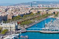 Port Vell, or the old port, is accessible from La Rambla. It separates the district of Barceloneta from the Gothic district.