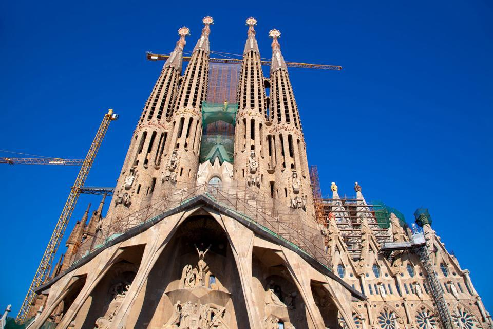 La Sagrada Familia was Antoni Gaudi's major work. It is the most visited monument in Spain and remains unfinished.