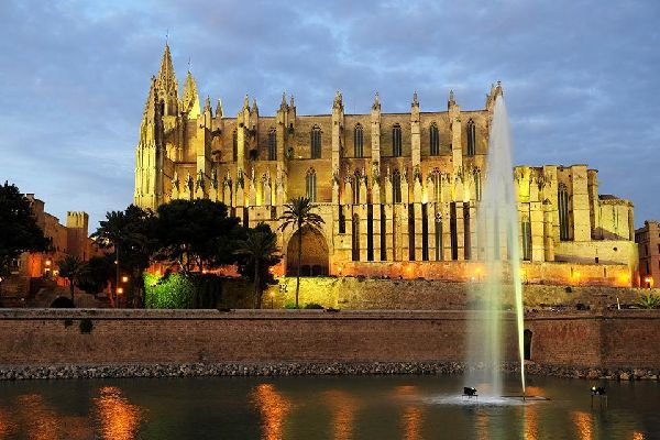 Palma Cathedral is the symbol of Majorca.