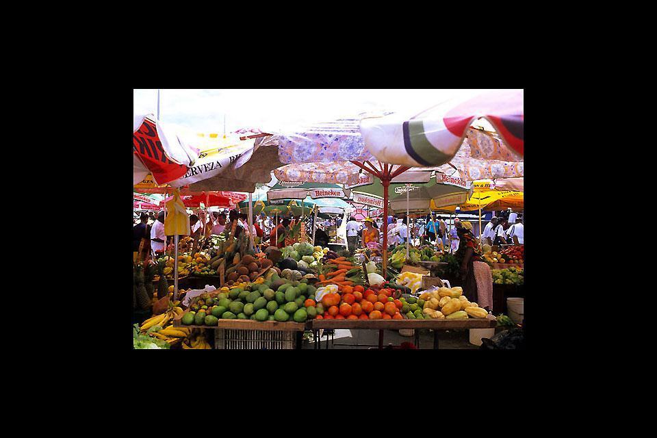 Le marché de la capitale centralise les productions de la région. Incontournable pour les amateurs de fruits aux saveurs tropicales !