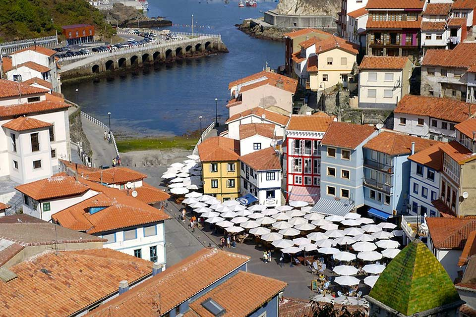 Asturian picturesque villages are characterised by their colorful houses.