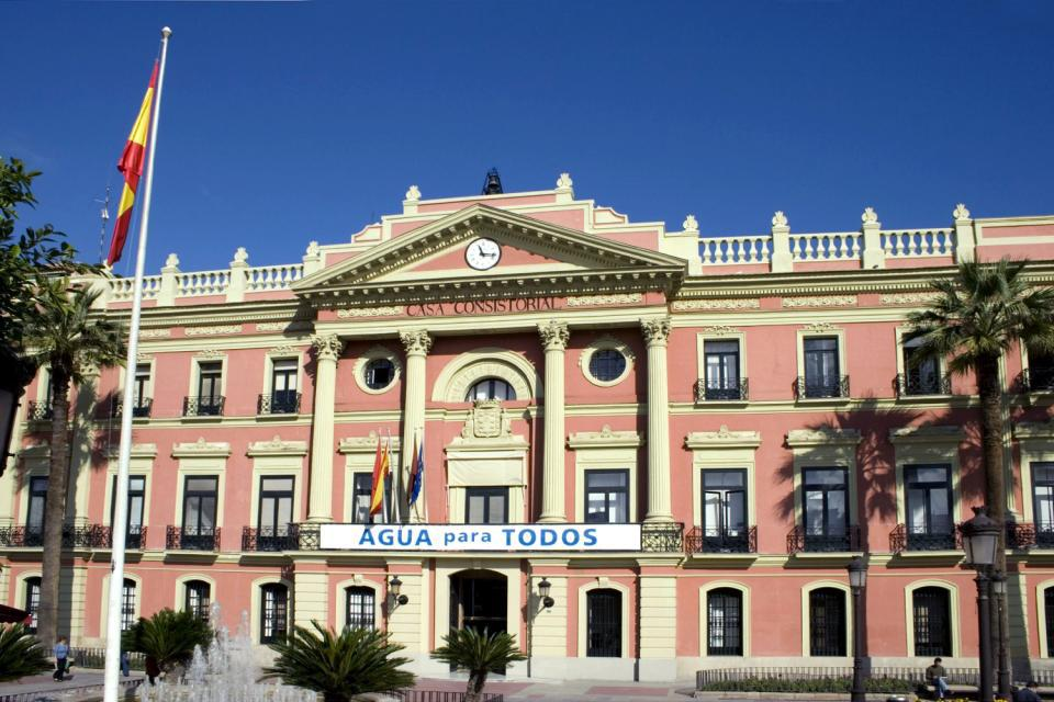 The town hall lies in the city square, known as The Glorieta.
