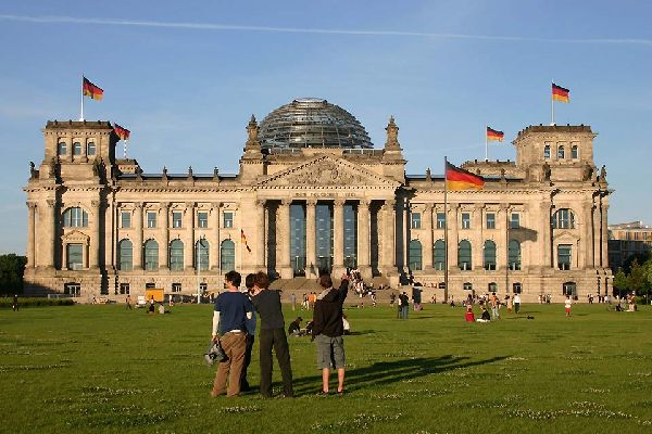 The Reichstag Palace is a very popular tourist destination.