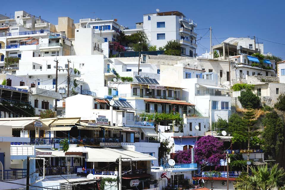 Agia Galini es uno de los pueblos más bonitos de la costa.