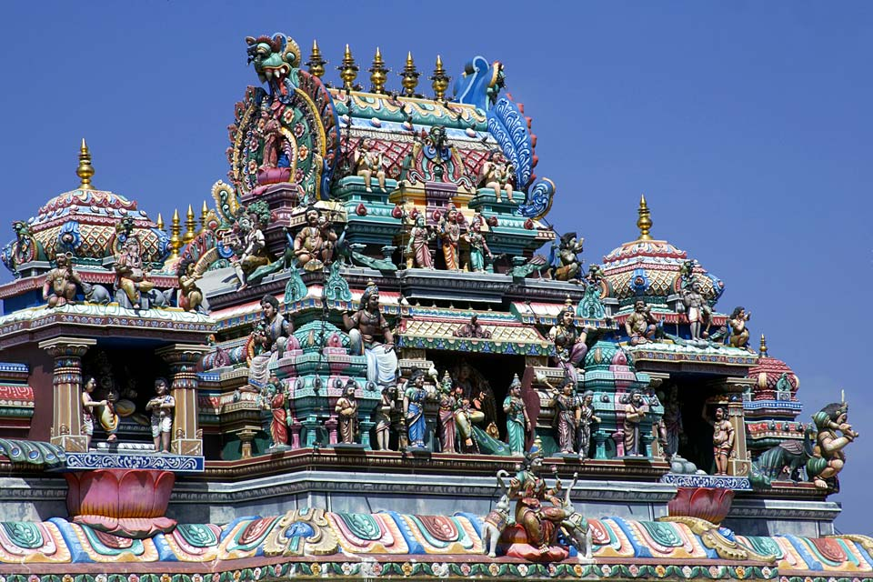 Penang's oldest Hindu temple dates back to 1883.