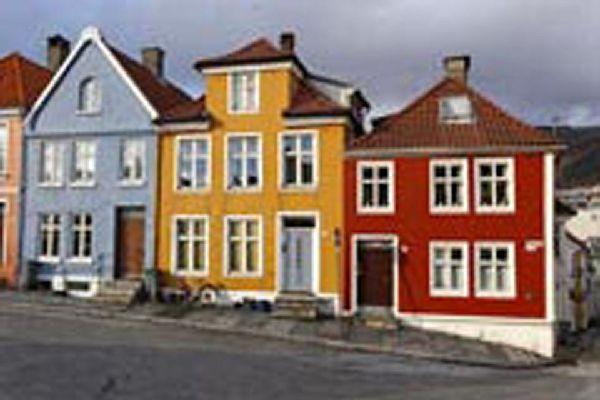 El puerto hanseático de Bergen (conocido como Bryggen), patrimonio de la Unesco.