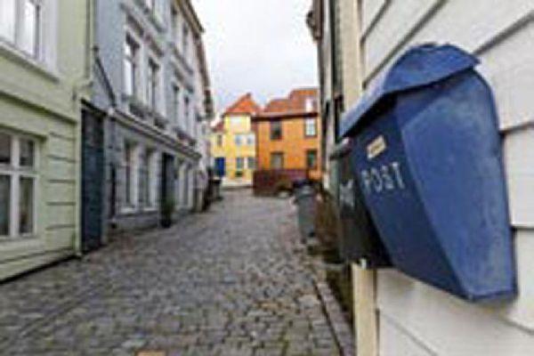 Las casas de madera son las construcciones típicas del barrio hanseático de Bergen.