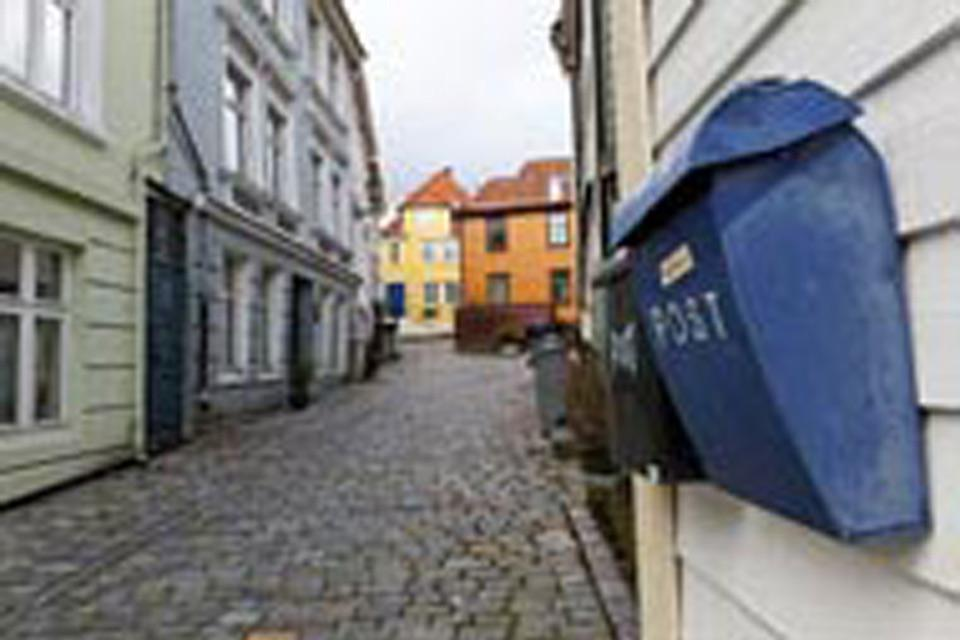 Les maisons en bois sont des constructions typiques du quartier hanséatique de Bergen.