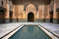 Cette école islamique est probablement la plus belle représentation architecturale de Marrakech et la mieux conservée.