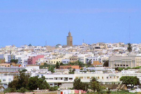 Veduta della torre di Hassan II.