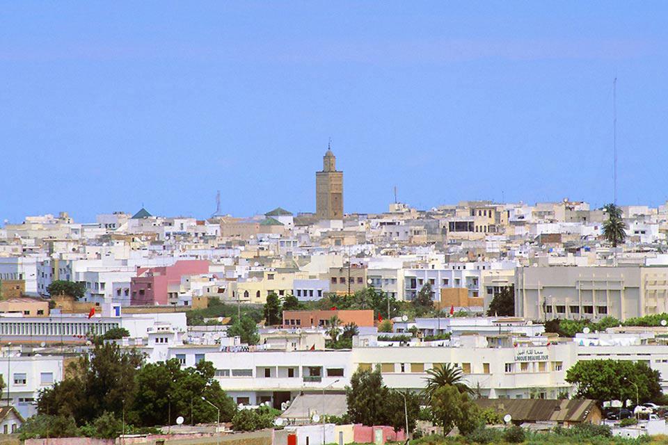 Vista de la torre Hassan II.