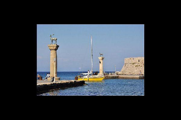 La ciudad medieval de Rodas está declarada patrimonio mundial de la UNESCO.