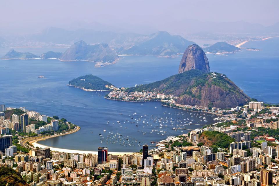 Superba veduta sul Pan di Zucchero, uno dei simboli di Rio