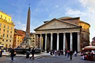 Anticamente situato sul Campo Marzio a Roma, il Pantheon è un edificio religioso costruito nel I secolo d.C per volere di Marcus Vipsanius Agrippa.
