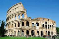 One of Rome's symbolic monuments, the Colosseum is also known as the Flavian Amphitheatre. It was built in the 1st century AD on the orders of Vespasian.