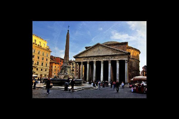 Originally situated on the Campus Martius in Rome, the Pantheon is a religious building built in the 1st century AD on the orders of Marcus Vipsanius Agrippa.