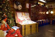 La maison du Père Noel peut se visiter.