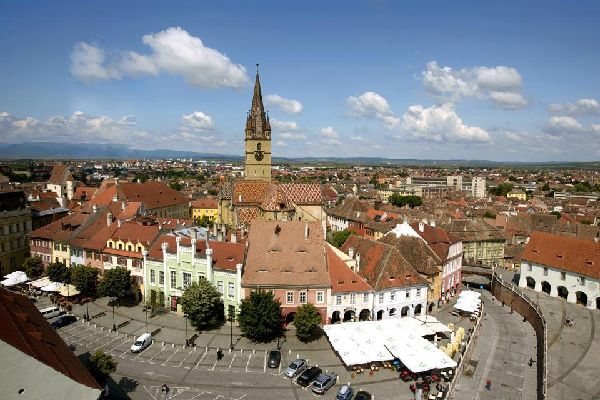 The historic centre with its Lutheran Cathedral of Saint Mary is one of the biggest medieval complexes in Romania.