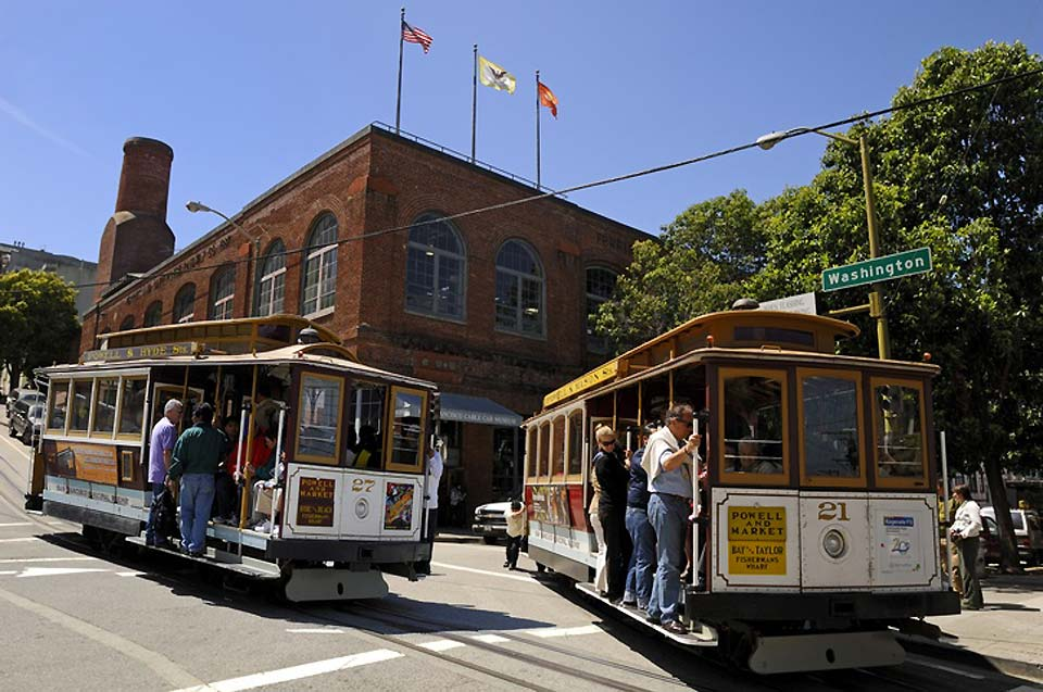 The cable cars in San Francisco officially opened in 1873. Three tram lines still exist in the city today.