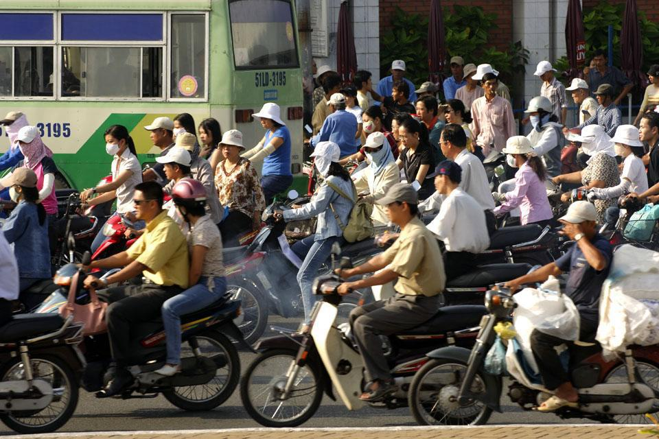 Vietnam's economic capital, this city is full of contrasts with typical, colonial, and modern neighborhoods.