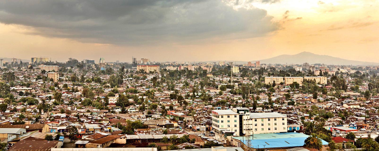 Afrique; Ethiopie; Addis Abeba; ville; bâtiment; arbre;