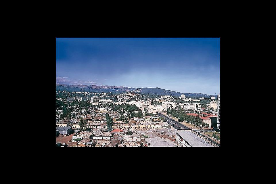 Panoramablick über die Stadt.