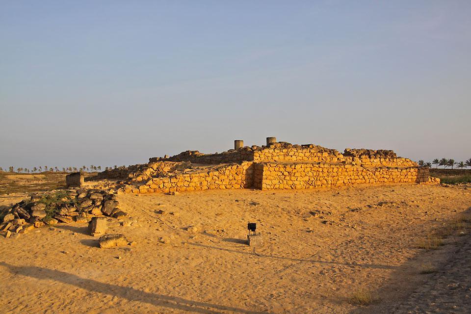 Ruinen eines Palastes der Königin von Saba.