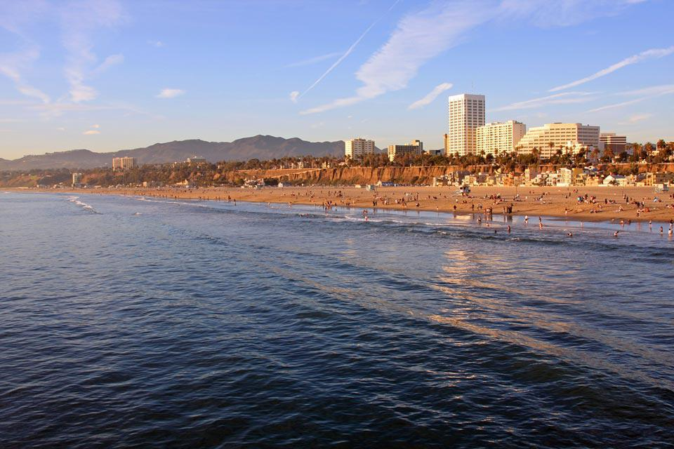 The famous Santa Monica Beach is arguably the city's most alluring attraction