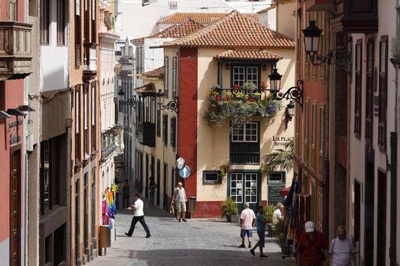 Santa Cruz de la Palma : La rue San Sebasti�n - Espagne