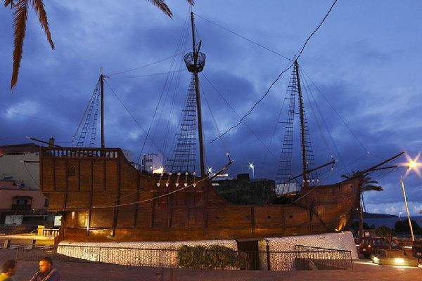 An identical reconstruction of one of Christopher Columbus' three caravels.