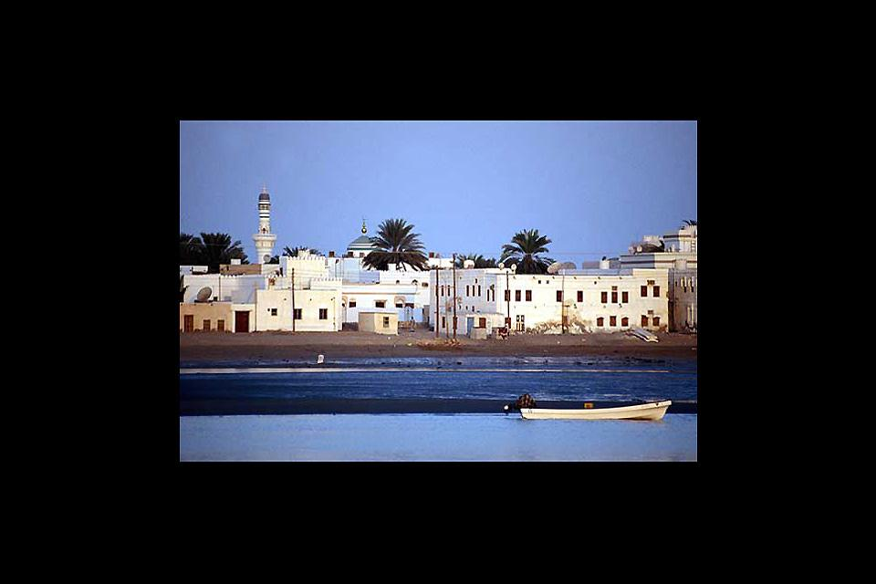 Sur is known for its shipyard. Dhows - traditional Arab vessels - are still built there.