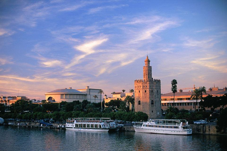 A view of the Torre del Oro and Guadalquivir River.