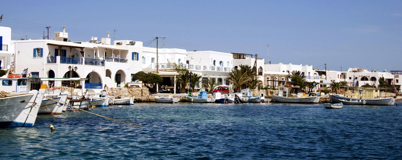 Antiparos, Cyclades, Grèce, Le port d'Antiparos