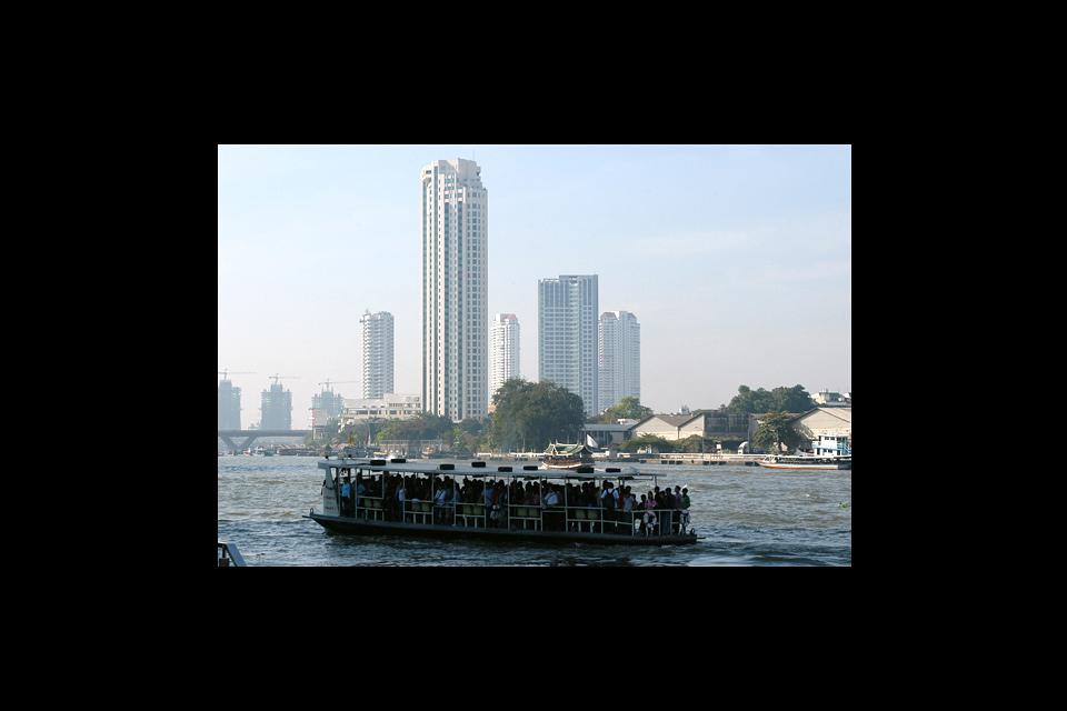 The Chao Phraya, which runs through Bangkok, is Thailand's largest river after the Salween and the Mekong.