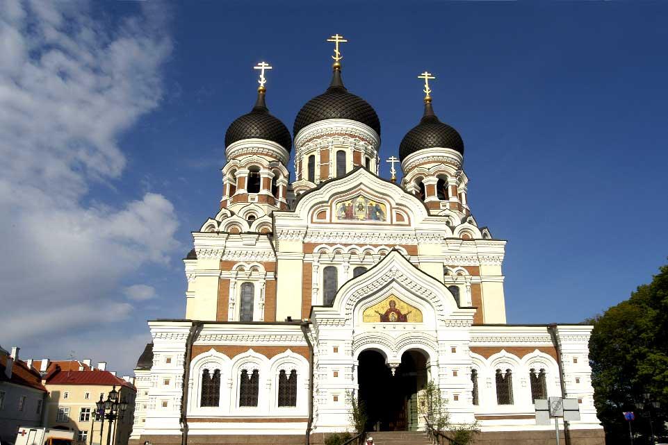 Cette cathédrale orthodoxe a été construite dans la plus pure tradition des églises russes.