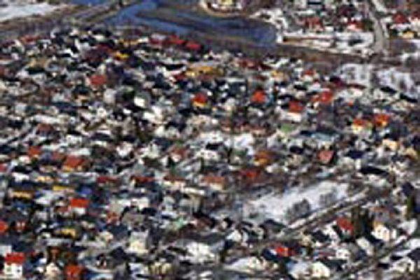 So friedlich sieht die größte Stadt im Norden Norwegens von oben aus