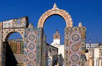 Tunis, c'est d'abord sa médina, ses mosquées, son souk aux ruelles étroites  et colorés. Mais on peut aussi rejoindre d'agréables plages en moins d'une  demi-heure, tout comme découvrir les sites incontournables de la côte nord : le  village de Sidi Bou Saïd, justement réputé pour son architecture traditionnelle,  ses portes en bois cloutés et ses charmants cafés maures. Il ne faut pas non  plus ...