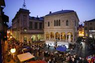 La Piazza della Libertà es uno de los puntos de encuentro de la ciudad.