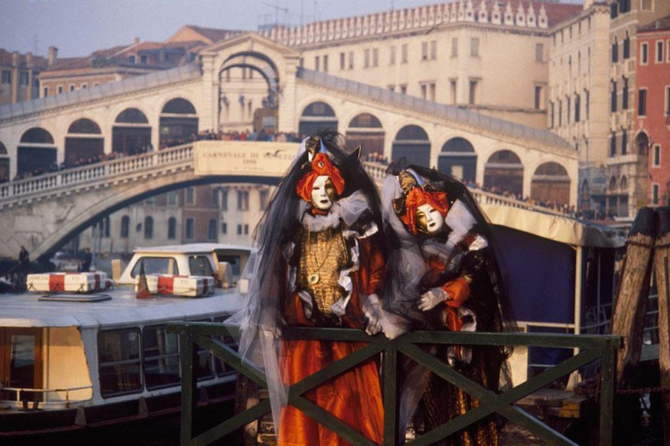 Venice's carnival is a spectacular tourist event which attracts thousands of visitors from around the world who flock to the city to join in the celebrations.
