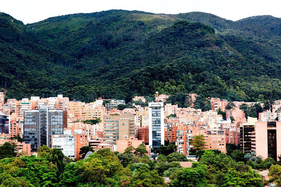 The third highest capital city in the world is located at an altitude of 2,640 metres above sea level and is surrounded by the Guadalupe and Monserrate hills