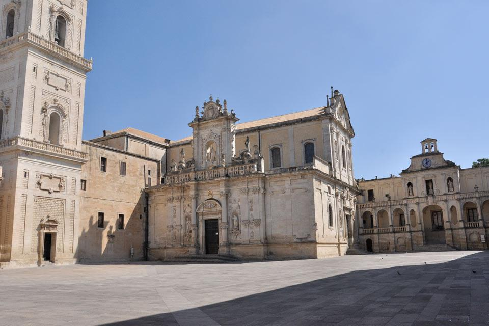 The Bishop's Palace, adjacent to the Cathedral, is the residence of the Bishop of Lecce. This palace was erected in the 15th century.