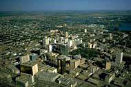 The capital of Saskatchewan is a small and lively city reminiscent of some English cities.