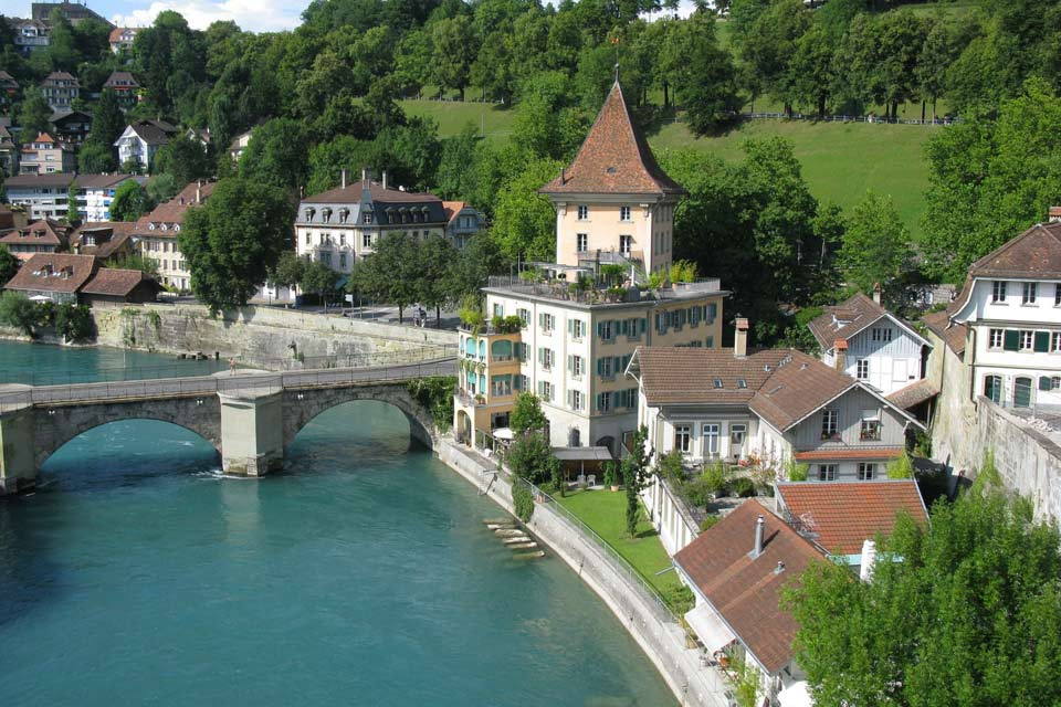 The Aar that passes through Bern is a tributary of the High Rhine. It is 179 miles long.