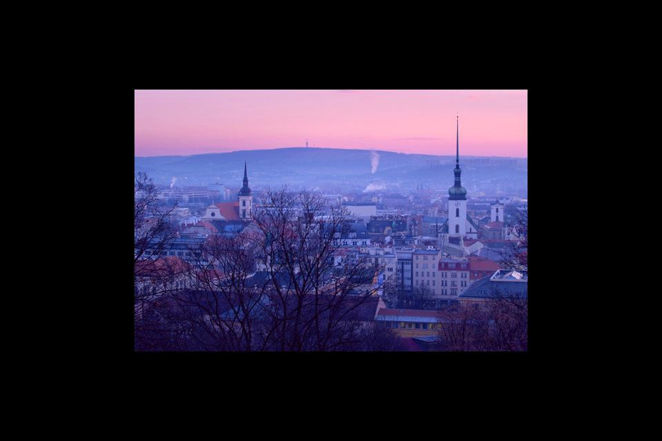 The city of Brno seen from Spilberk Castle.