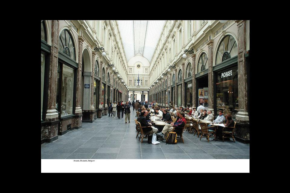 This covered arcade boasts a superb glass ceiling and is home to a wide range of shops, restaurants and even theatres.