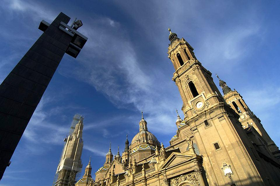 With its three towers, the basilica dominates the view of the city